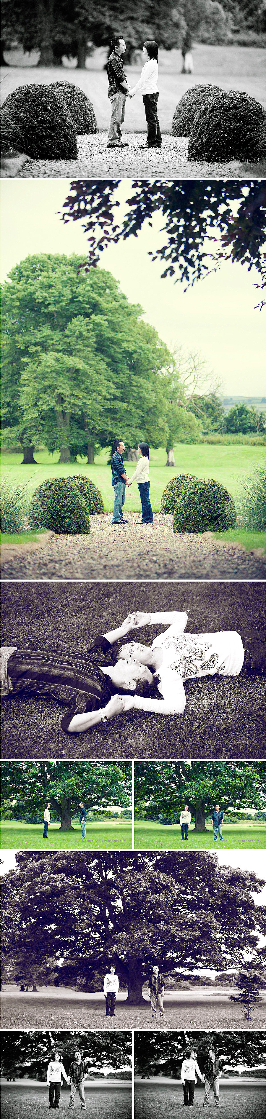 Creative, relaxed and modern engagement and pre wedding photography