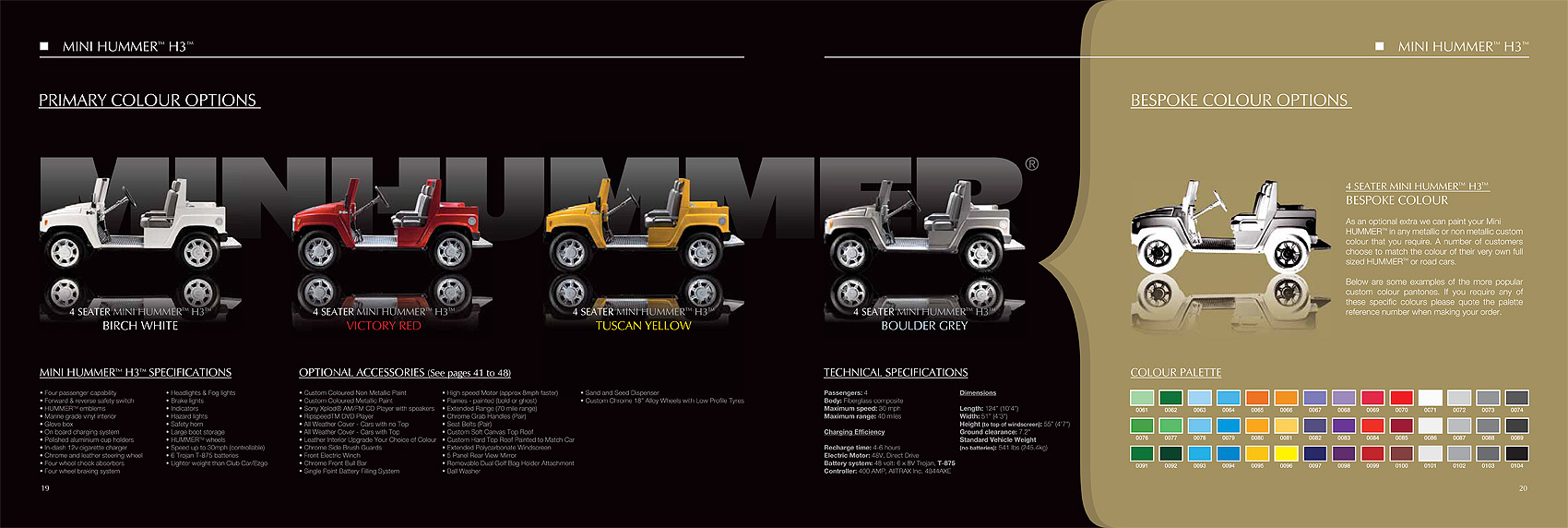 Hummer H3 brochure photography