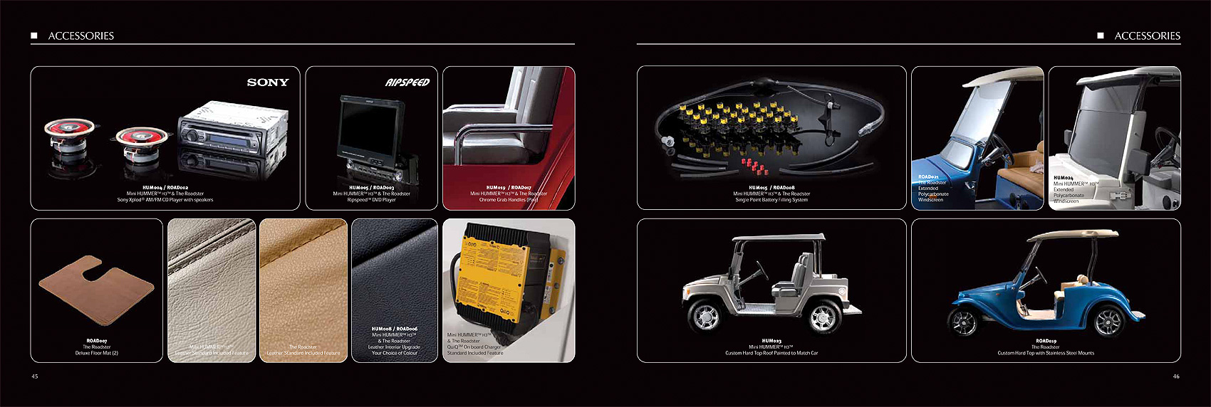 Hummer H3 accessories brochure photography