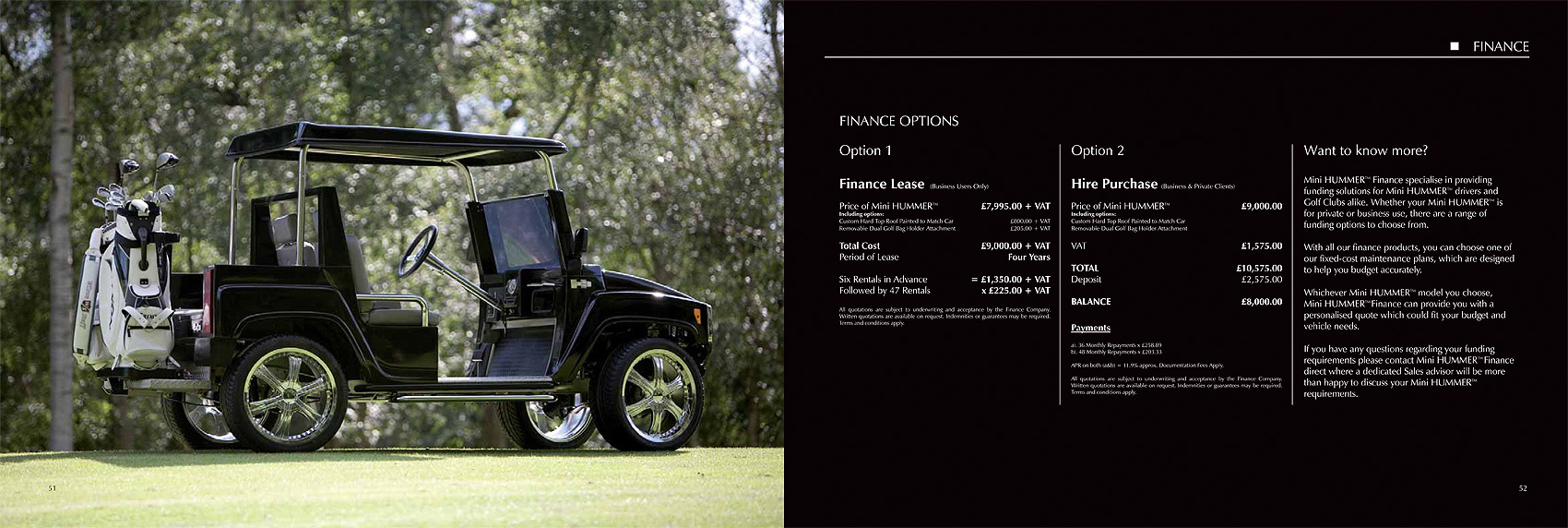 Hummer H3 accessories brochure